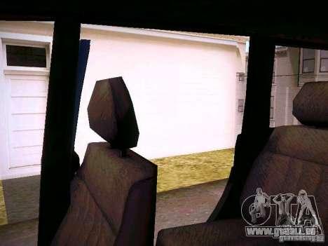 UAZ 3160 Patriot pour GTA San Andreas vue de dessous