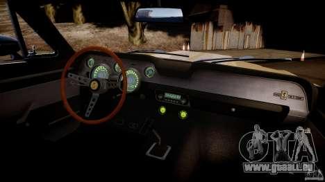 Shelby Mustang GT500 Eleanor v.1.0 Non-EPM pour GTA 4 est une vue de l'intérieur