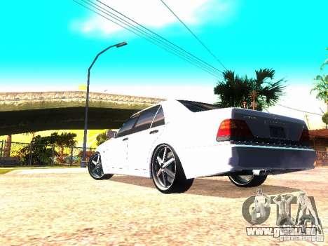Mercedes-Benz S600 AMG pour GTA San Andreas sur la vue arrière gauche