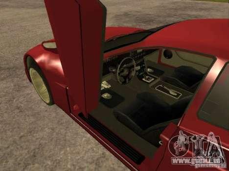 HD Cheetah pour GTA San Andreas sur la vue arrière gauche