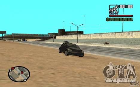 Chrysler PT Cruiser pour GTA San Andreas sur la vue arrière gauche