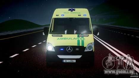 Mercedes-Benz Sprinter PK731 Ambulance [ELS] pour GTA 4 vue de dessus