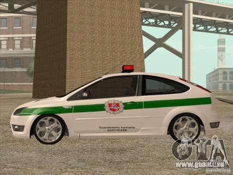 Ford Focus ST Policija für GTA San Andreas linke Ansicht