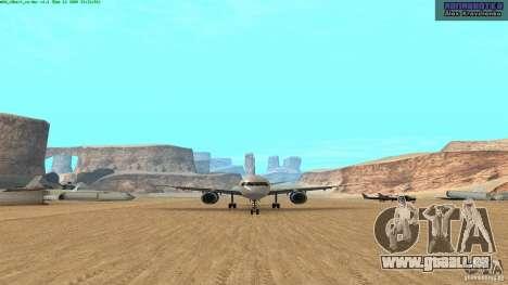 Boeing 757-200 Final Version pour GTA San Andreas laissé vue