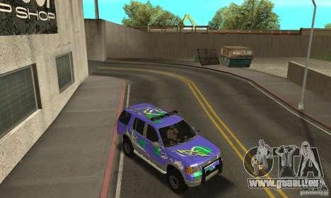 Ford Explorer 2002 pour GTA San Andreas vue de dessous