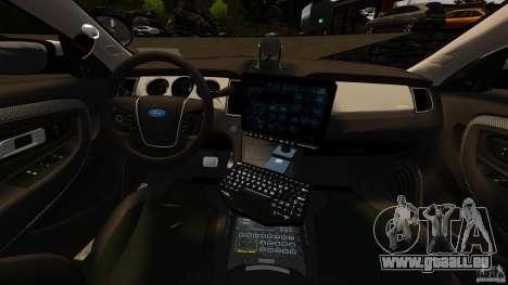 Ford Taurus 2010 CCSO Police [ELS] für GTA 4 Rückansicht