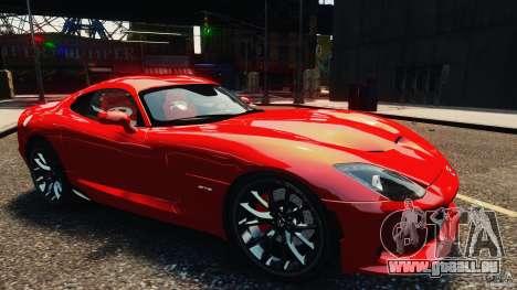 Dodge Viper GTS 2013 pour GTA 4 est un droit