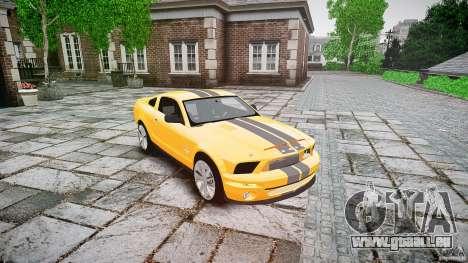 Shelby GT 500 KR 2008 K.I.T.T. für GTA 4 Rückansicht