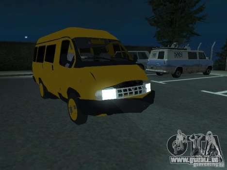 Taxi de la Gazelle pour GTA San Andreas vue de côté