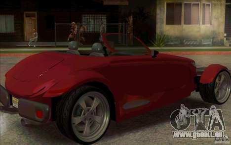 Plymouth Prowler pour GTA San Andreas sur la vue arrière gauche