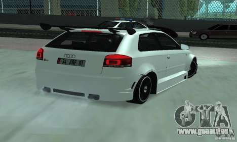 Audi S3 Full tunable für GTA San Andreas zurück linke Ansicht