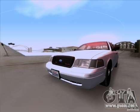 Ford Crown Victoria 2009 Detective für GTA San Andreas linke Ansicht