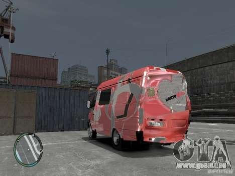 Gazelle 2705 Telkomsel Van für GTA 4 Innenansicht