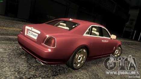Rolls-Royce Ghost 2010 V1.0 für GTA San Andreas rechten Ansicht