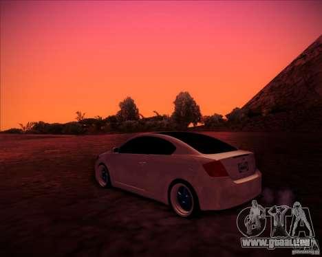 Scion tC Blue Meisters pour GTA San Andreas sur la vue arrière gauche