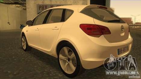Opel Astra 2010 pour GTA San Andreas sur la vue arrière gauche