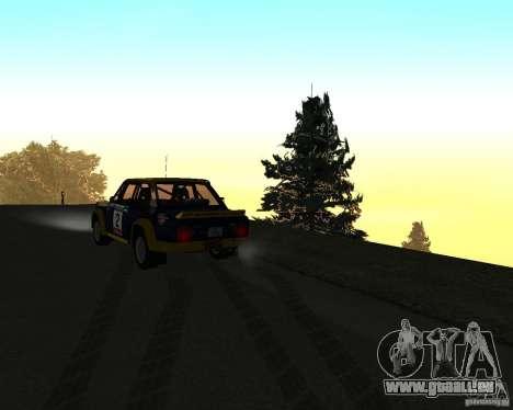 Fiat 131 Rally für GTA San Andreas obere Ansicht