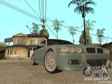 BMW E38 M7 pour GTA San Andreas vue arrière