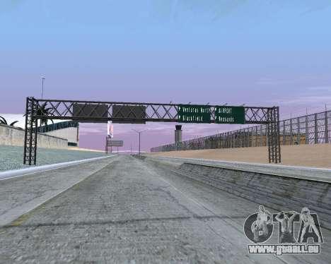 Route signes v1.2 pour GTA San Andreas deuxième écran