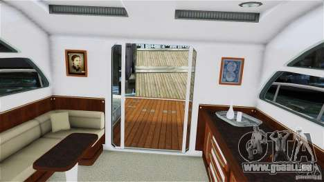 Luxury Yacht pour GTA 4 Vue arrière de la gauche