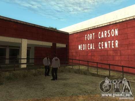 Renouvellement de l'hôpital de Fort Carson pour GTA San Andreas troisième écran