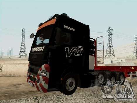 MAN TGX 8x4 pour GTA San Andreas vue de droite