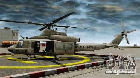 Hélicoptère Bell UH-1Y Venom pour GTA 4 est une gauche