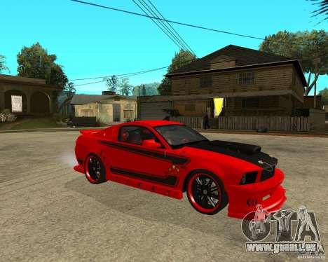Ford Mustang Red Mist Mobile pour GTA San Andreas vue de droite