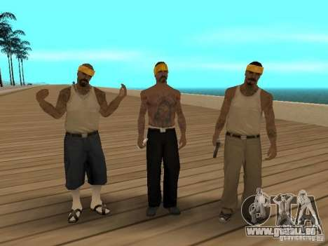 Standardmodelle von Vagos für GTA San Andreas