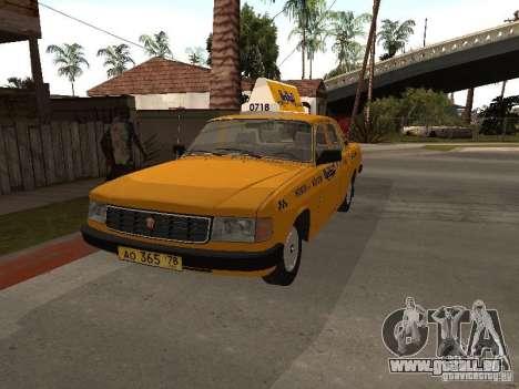 Volga GAZ 31029 Taxi für GTA San Andreas rechten Ansicht