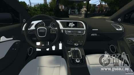 Audi S5 pour GTA 4 Vue arrière