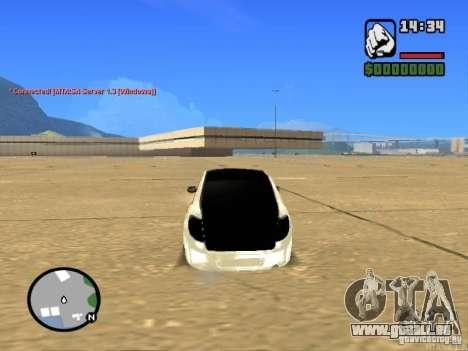 Style de Grant JDM VAZ 2190 pour GTA San Andreas sur la vue arrière gauche