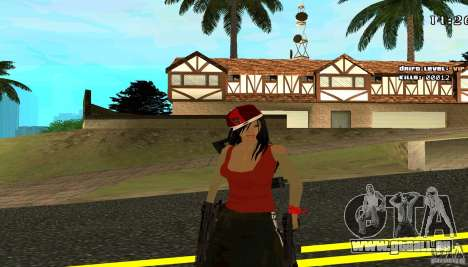 Chicano Chick Skin pour GTA San Andreas deuxième écran