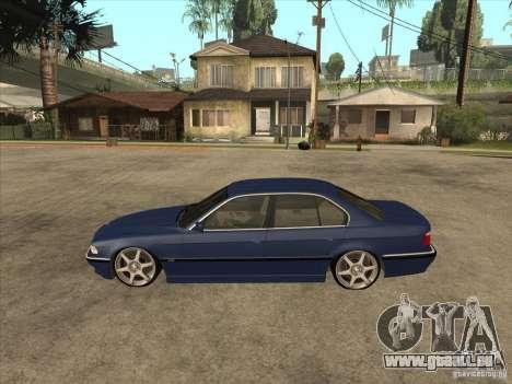BMW 750i für GTA San Andreas zurück linke Ansicht