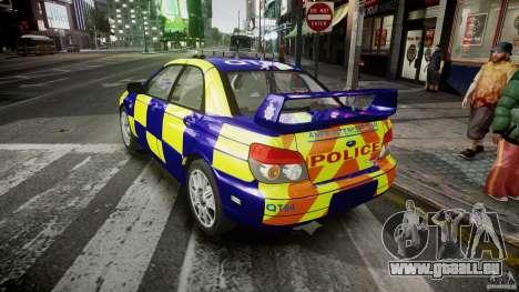 Subaru Impreza WRX Police [ELS] für GTA 4 hinten links Ansicht