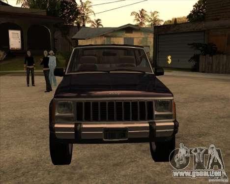 Jeep Cherokee pour GTA San Andreas sur la vue arrière gauche