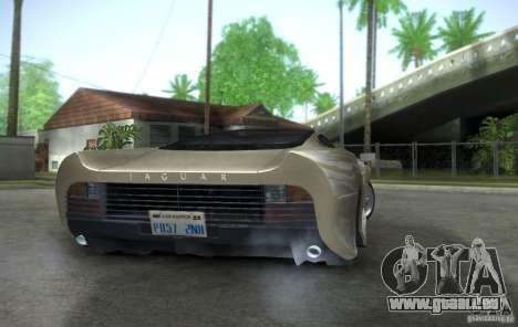 Jaguar XJ 220 Black Rivel pour GTA San Andreas sur la vue arrière gauche