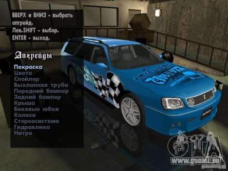 Nissan Stagea 25RS four S pour GTA San Andreas vue de côté