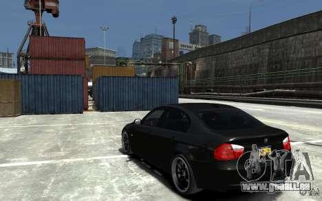 BMW 330i E60 Tuned 1 pour GTA 4 Vue arrière de la gauche