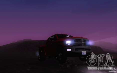 Dodge Ram 3500 Laramie 2010 pour GTA San Andreas vue intérieure