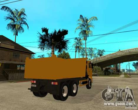 KAMAZ 6520 TAI pour GTA San Andreas sur la vue arrière gauche