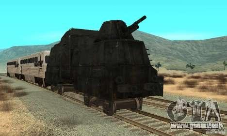 Train blindé allemand du deuxième monde pour GTA San Andreas