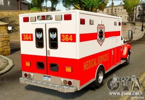 GMC C5500 Topkick Ambulance pour GTA 4 Vue arrière de la gauche