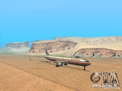 Boeing 767-300 American Airlines für GTA San Andreas linke Ansicht