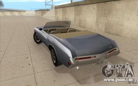 Buick Riviera GS 1969 pour GTA San Andreas sur la vue arrière gauche