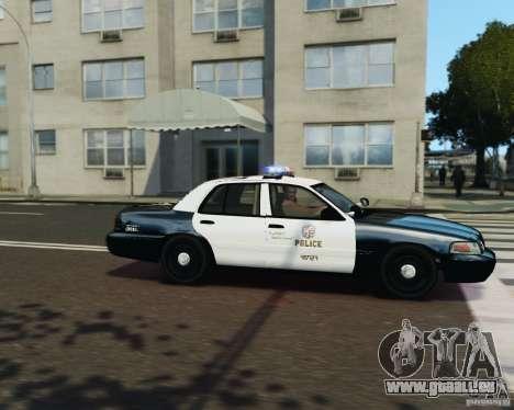 Ford Crown Victoria LAPD pour GTA 4 vue de dessus