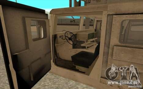 Hummer H1 Military HumVee für GTA San Andreas Rückansicht
