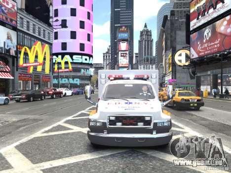 GMC C4500 Ambulance [ELS] pour GTA 4 Vue arrière