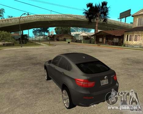 BMW X6 M pour GTA San Andreas laissé vue
