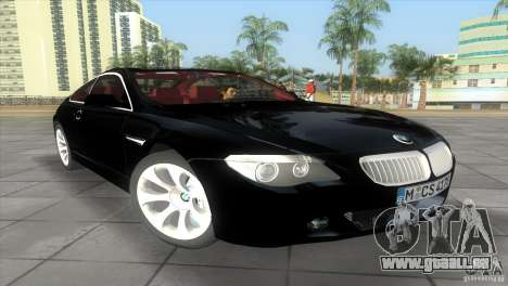 BMW 645Ci pour GTA Vice City